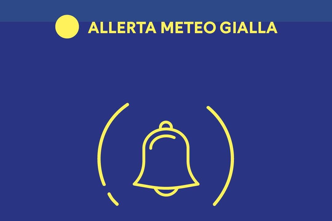Campania: dalla mezzanotte Allerta Meteo Gialla per l'intera giornata di sabato