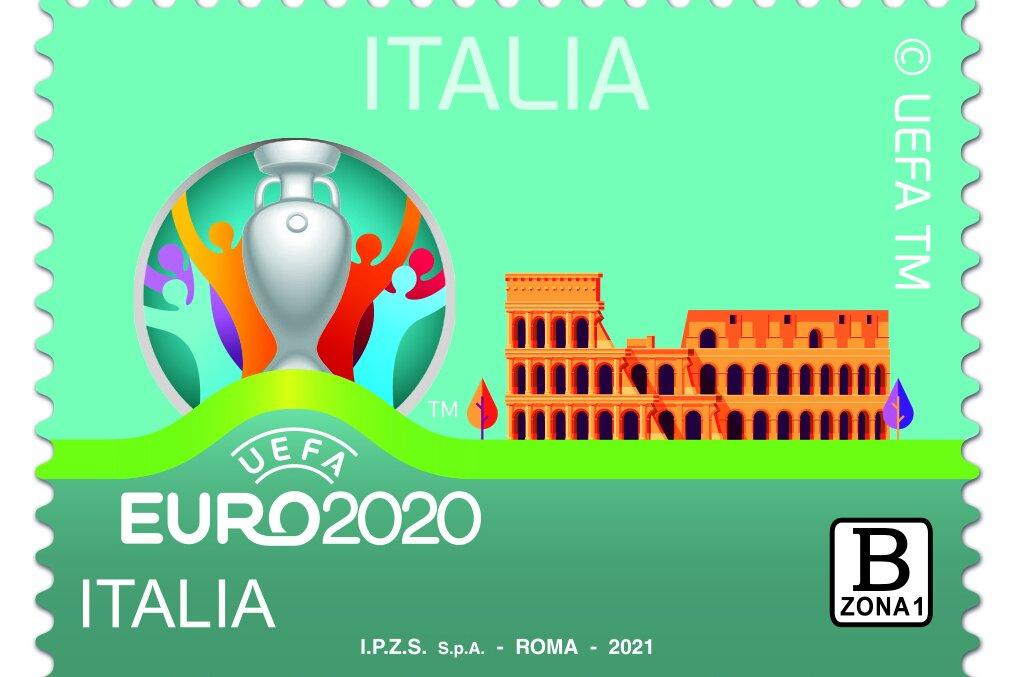 Ora c'è anche il francobollo Uefa Euro 2020 Italia